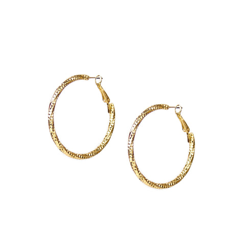 perforated shimmer hoop