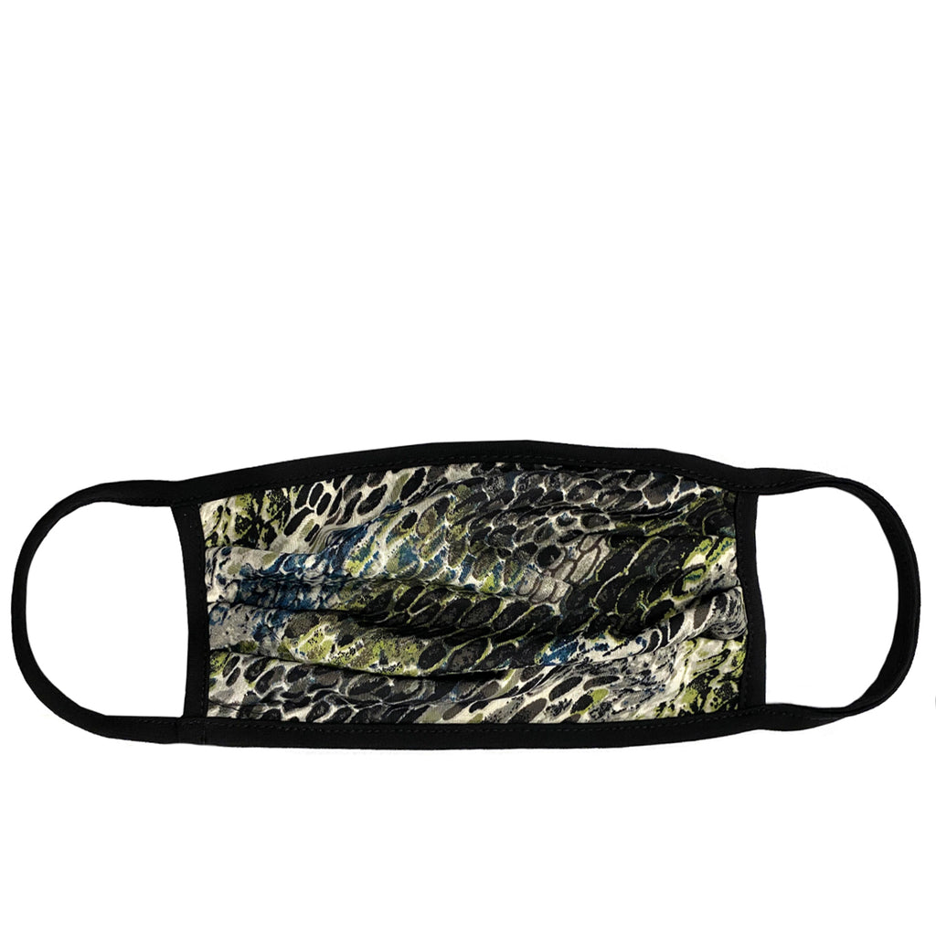 olive snakeskin adult mask with wire