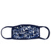 blue ikat adult mask with wire