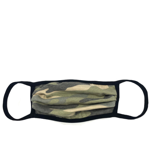 green camo adult mask with wire