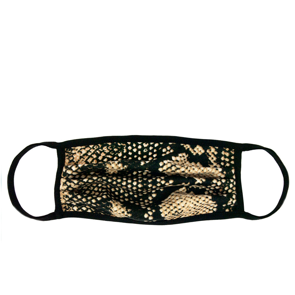 tan snakeskin adult mask