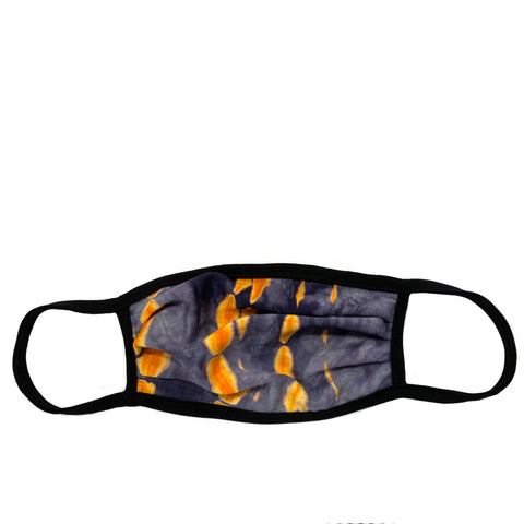 orange tie dye adult mask with wire