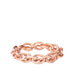 rose gold link stretch bracelet