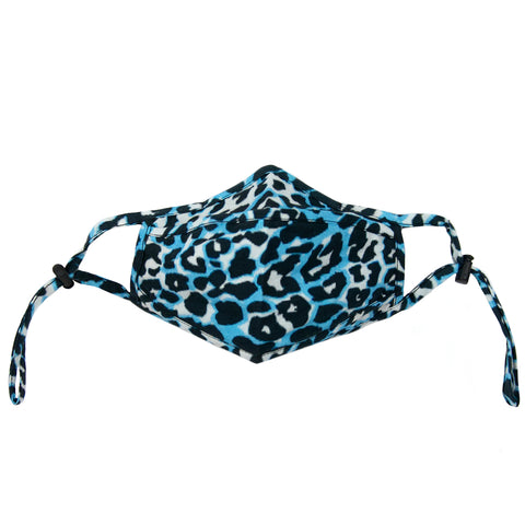blue leopard adjustable adult mask