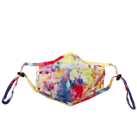 multi tie-dye adjustable mask