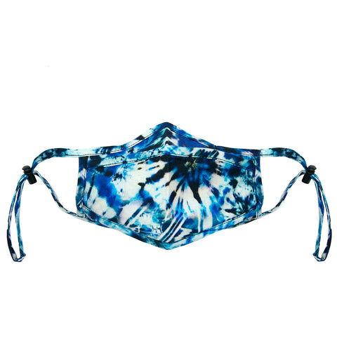 turquoise tie dye adjustable mask