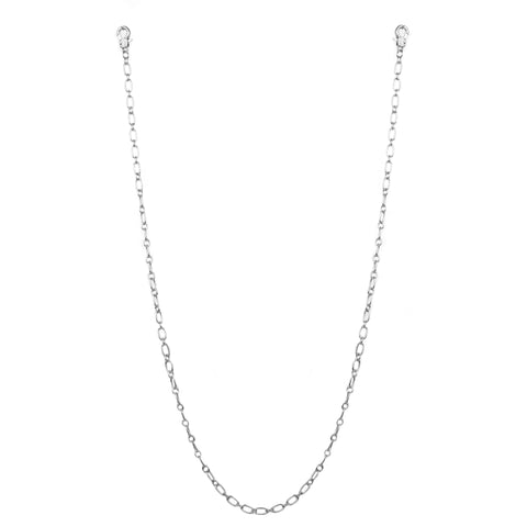 "26"" small oval link mask chain"