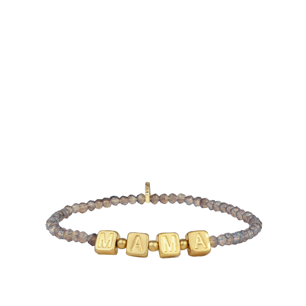 MAMA crystal beaded stretch bracelet