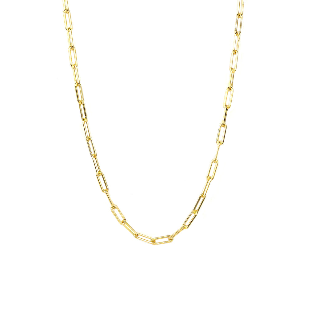 "sterling/gold fill 24"" link necklace"