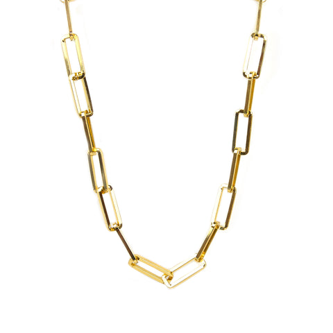 large rectangle link necklace