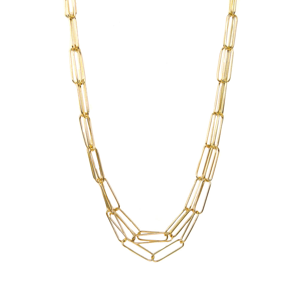triple strand paperclip necklace