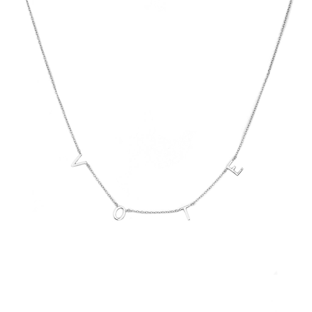 sterling VOTE necklace