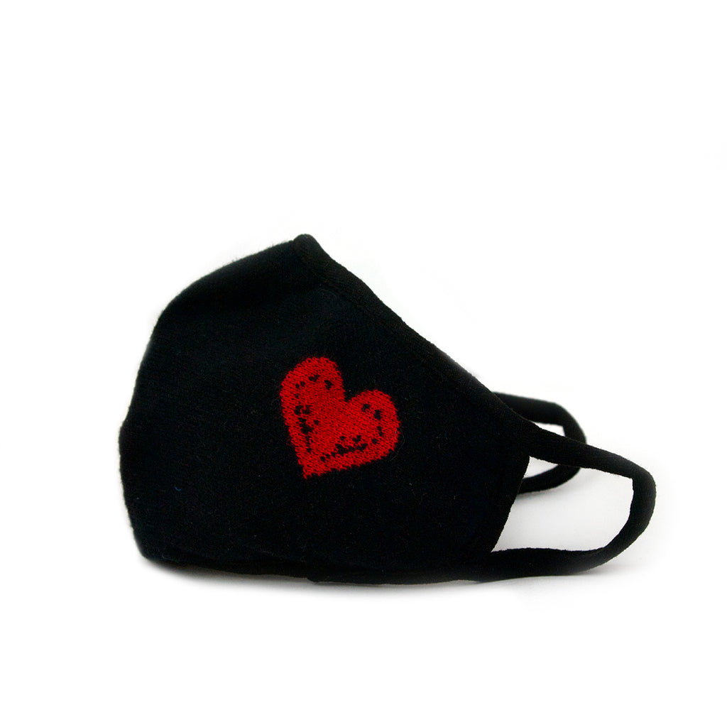 red heart knit mask