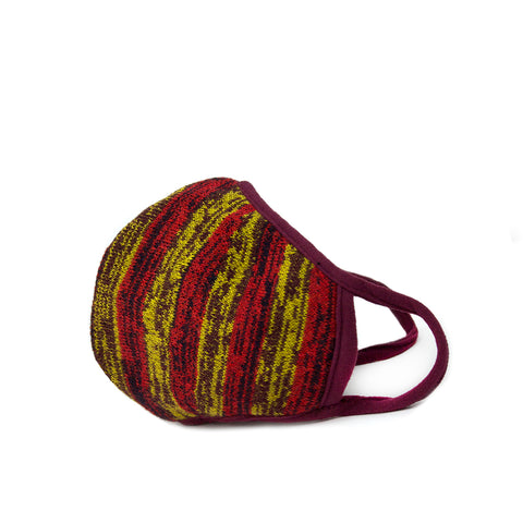 red stripe knit mask