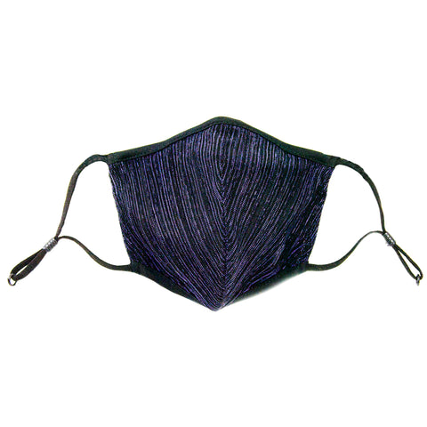 black shimmer adjustable mask