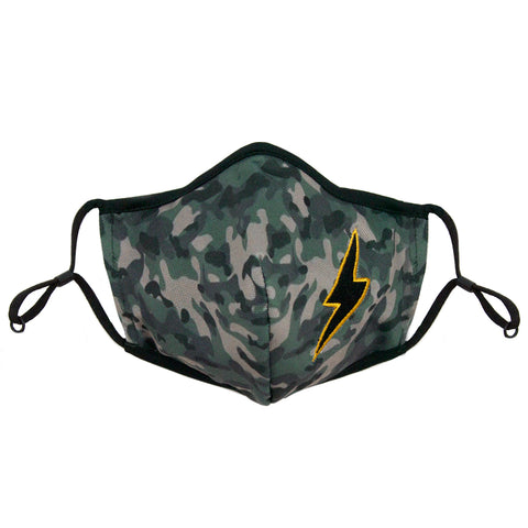 green camo adjustable mask