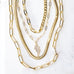 double layer cobra chain & link necklace