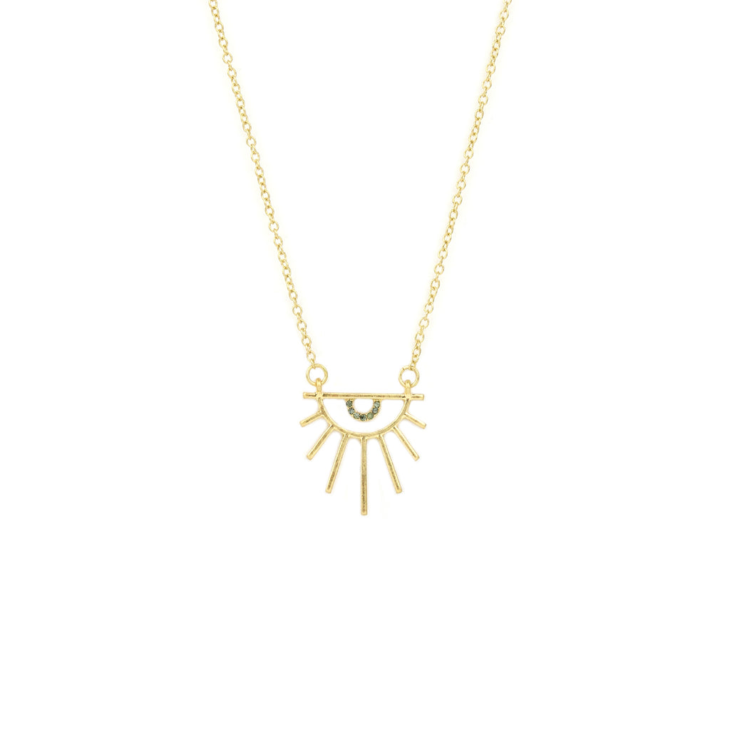 abstract sun necklace