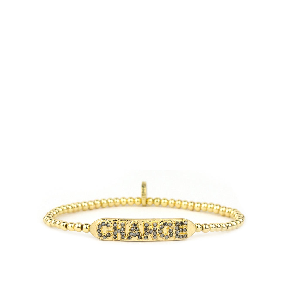 pave CHANGE mini bar bracelet