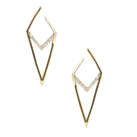 Sterling Diamond Shape Earring