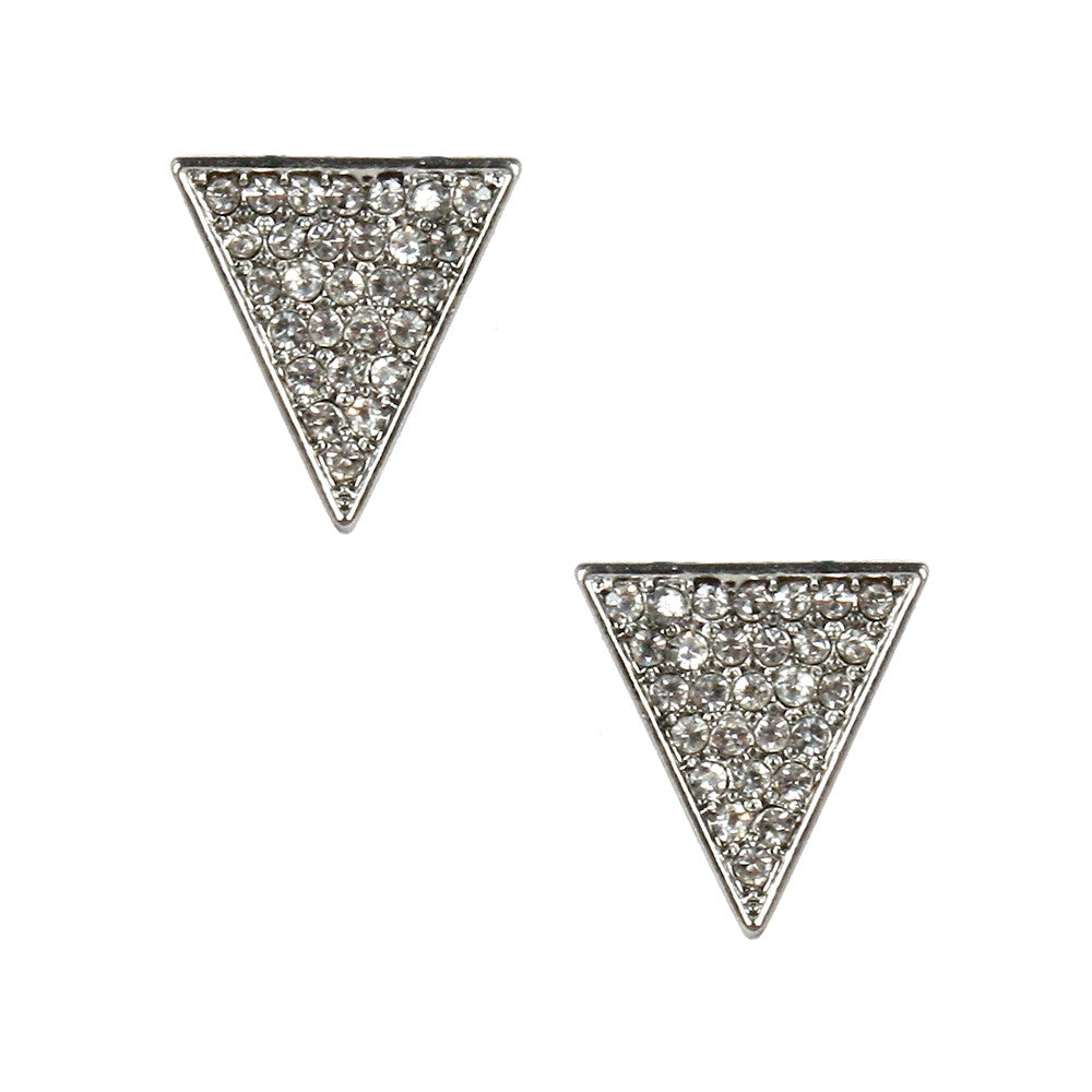 CZ Triangle Post Earring
