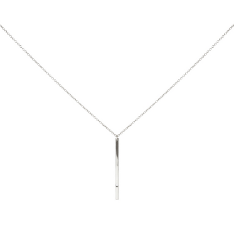 sterling vertical bar necklace