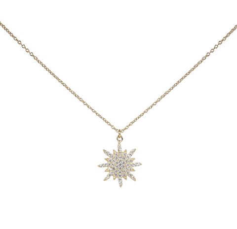 sterling starburst necklace