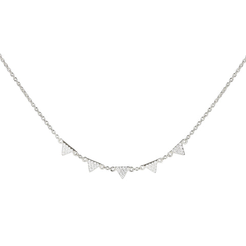 sterling mini triangle necklace