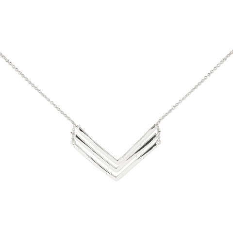 sterling chevron necklace