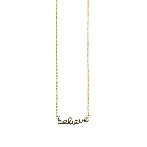 "sterling ""believe"" necklace"