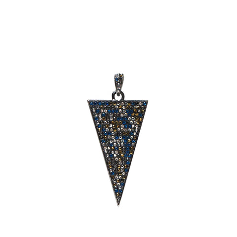 pave triangle charm