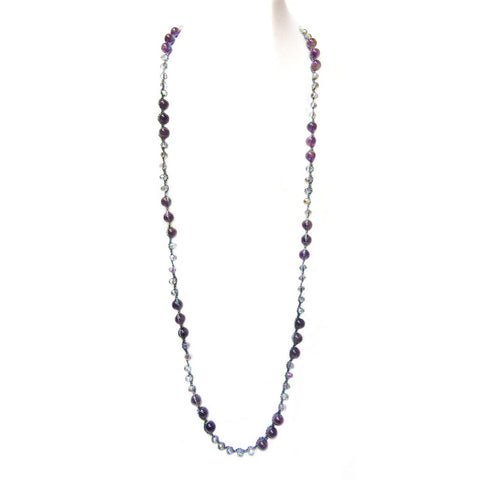 threaded bead necklace