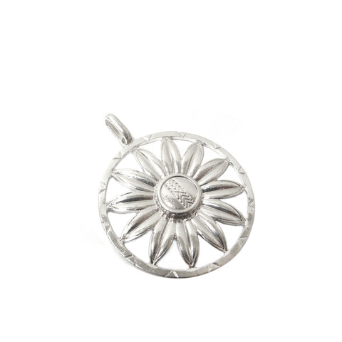 floral disc charm