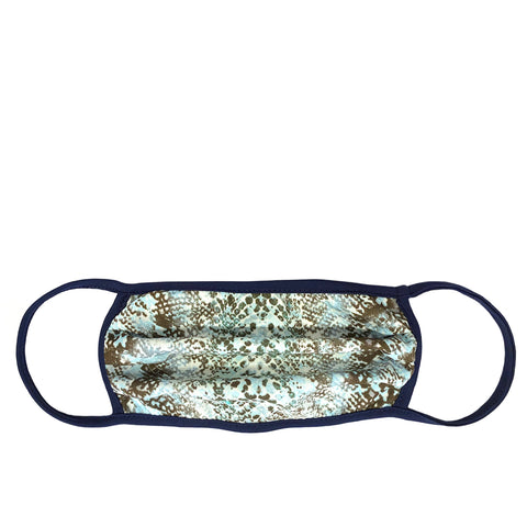 aqua snakeskin adult mask with wire