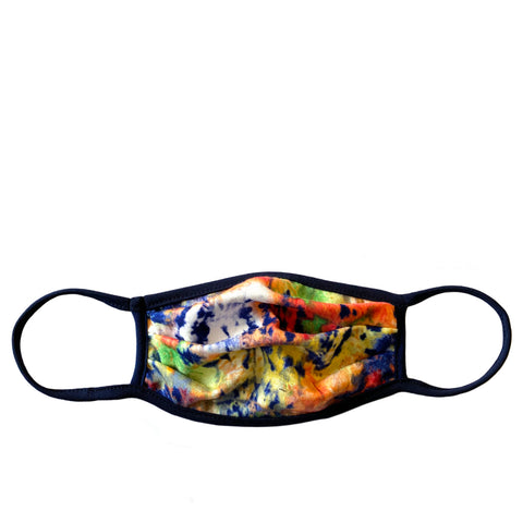bright tie dye adult mask