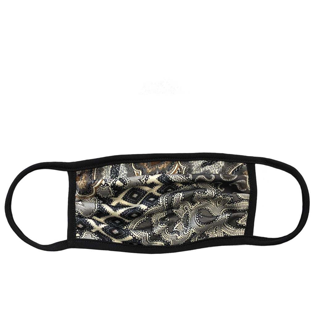 grey paisley adult mask