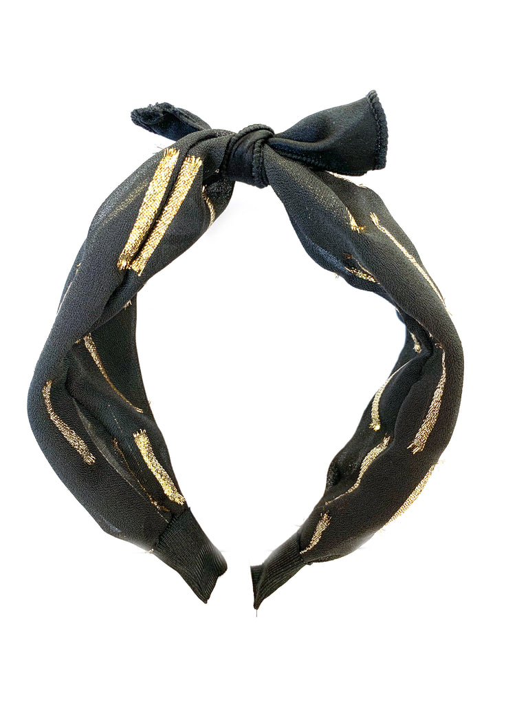 metallic pattern headband