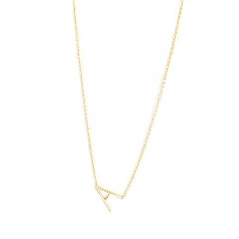 sterling small initial necklace