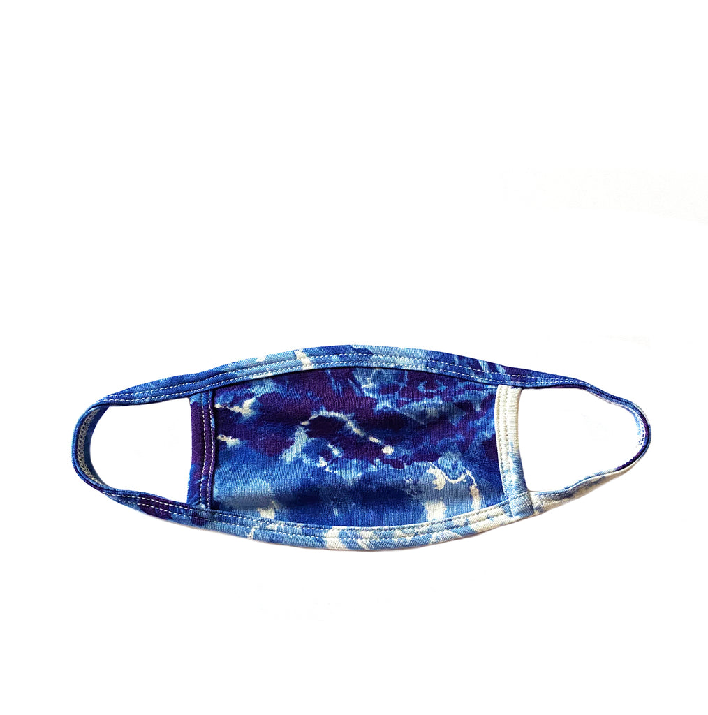 blue tie dye kids mask
