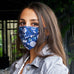 blue bandana adjustable mask