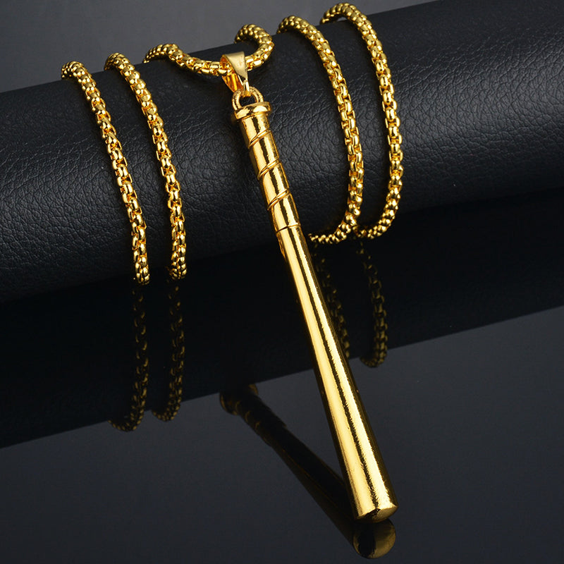 Baseball Bat  Long Chain Necklace for Men