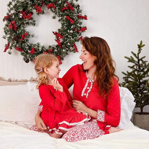 Vintage Snowflake Women's Tunic and  Pants Set