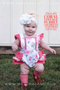 Coral Vintage Bubble (3m-5yrs)