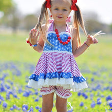 Load image into Gallery viewer, Stars&Stripes tunic and bloomers/shorts