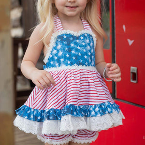 Stars&Stripes tunic and bloomers/shorts