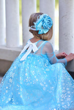 Load image into Gallery viewer, Elsa (inspired) Dress with removable cape