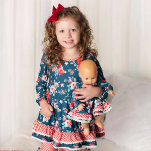 Wintergreen Rose Doll Dress