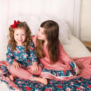 Wintergreen Rose Gown +Bloomers set (6m-14yrs)