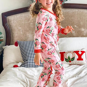Pink Holly Berry Onesie