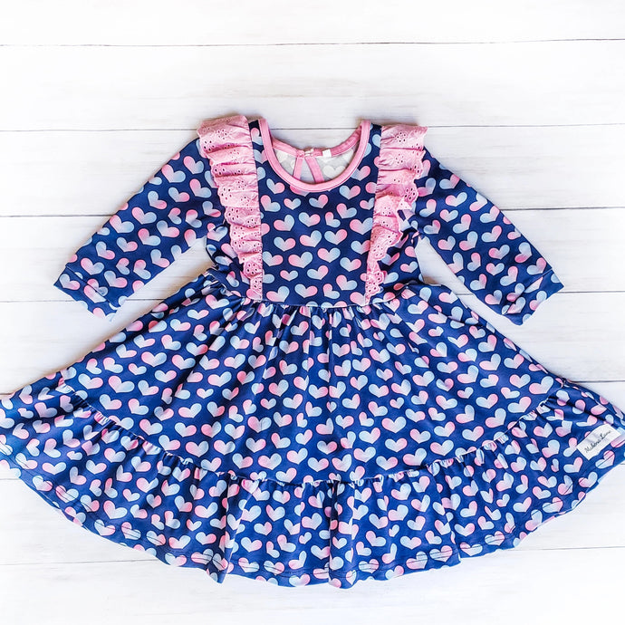 Sweet Heart Twirl Dress (ready to ship size 12m-12yrs)